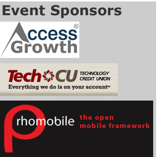 Sponsor logos: Access Global TechCU and Rhomobile
