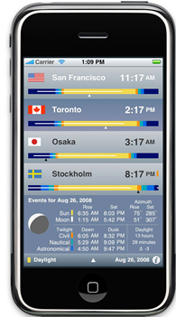 VelaClock iPhone app