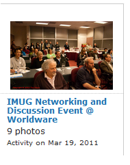 IMUG @ Worldware Networking and Discsussion event photos