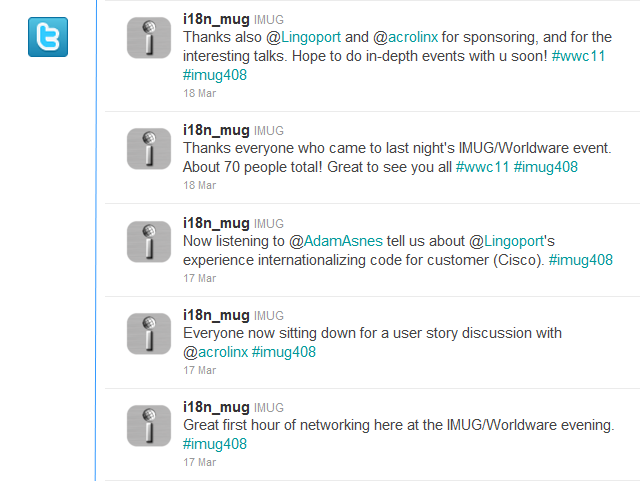 Follow IMUG on Twitter. The hashtag for IMUG events is #imug408